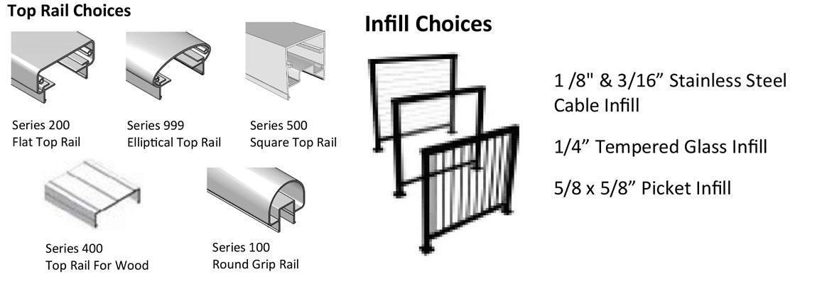 American Metal Specialties Alu-Rail™ Aluminum Deck Railing